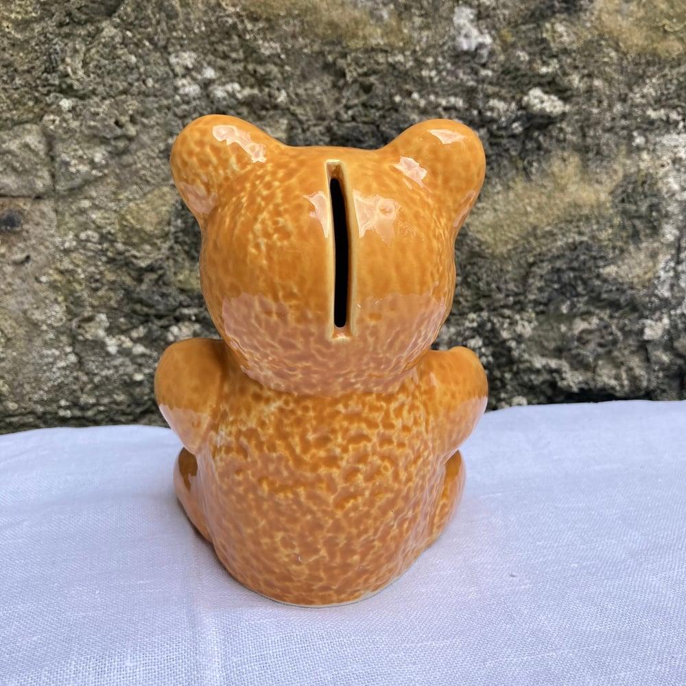 Image of Teddy bear money box