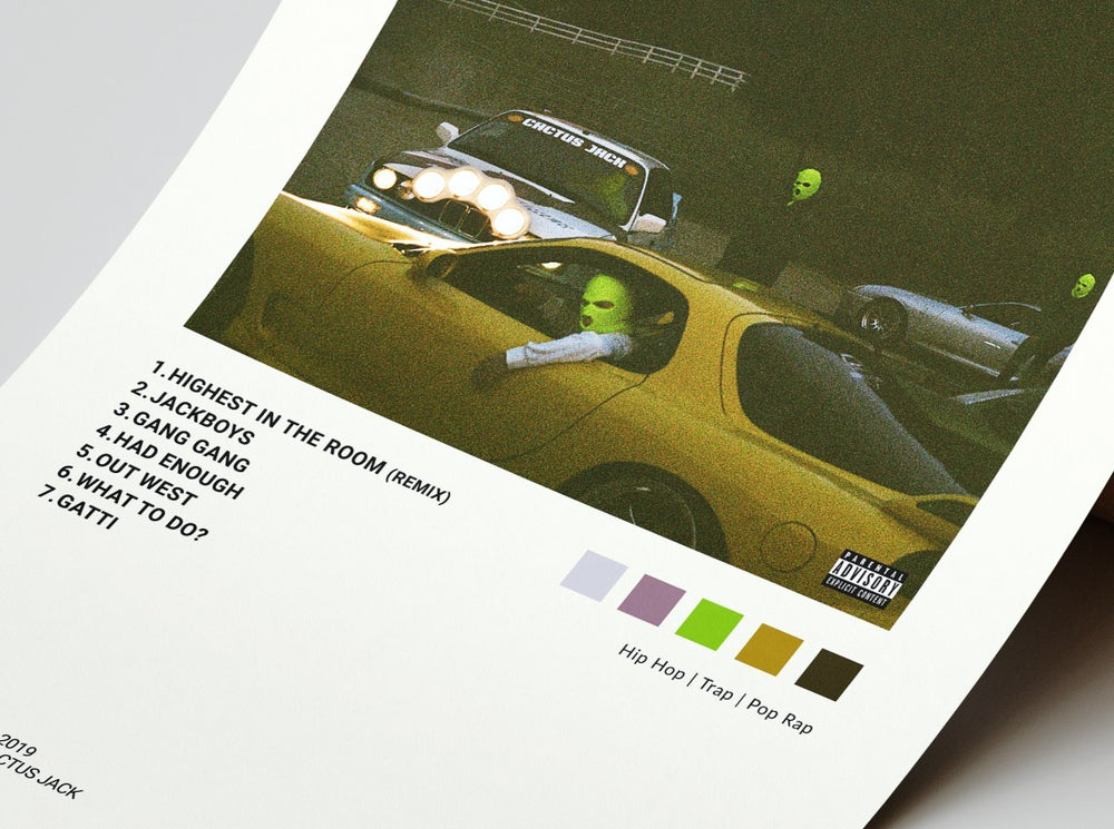 Travis Scott - JackBoys Album Cover Poster