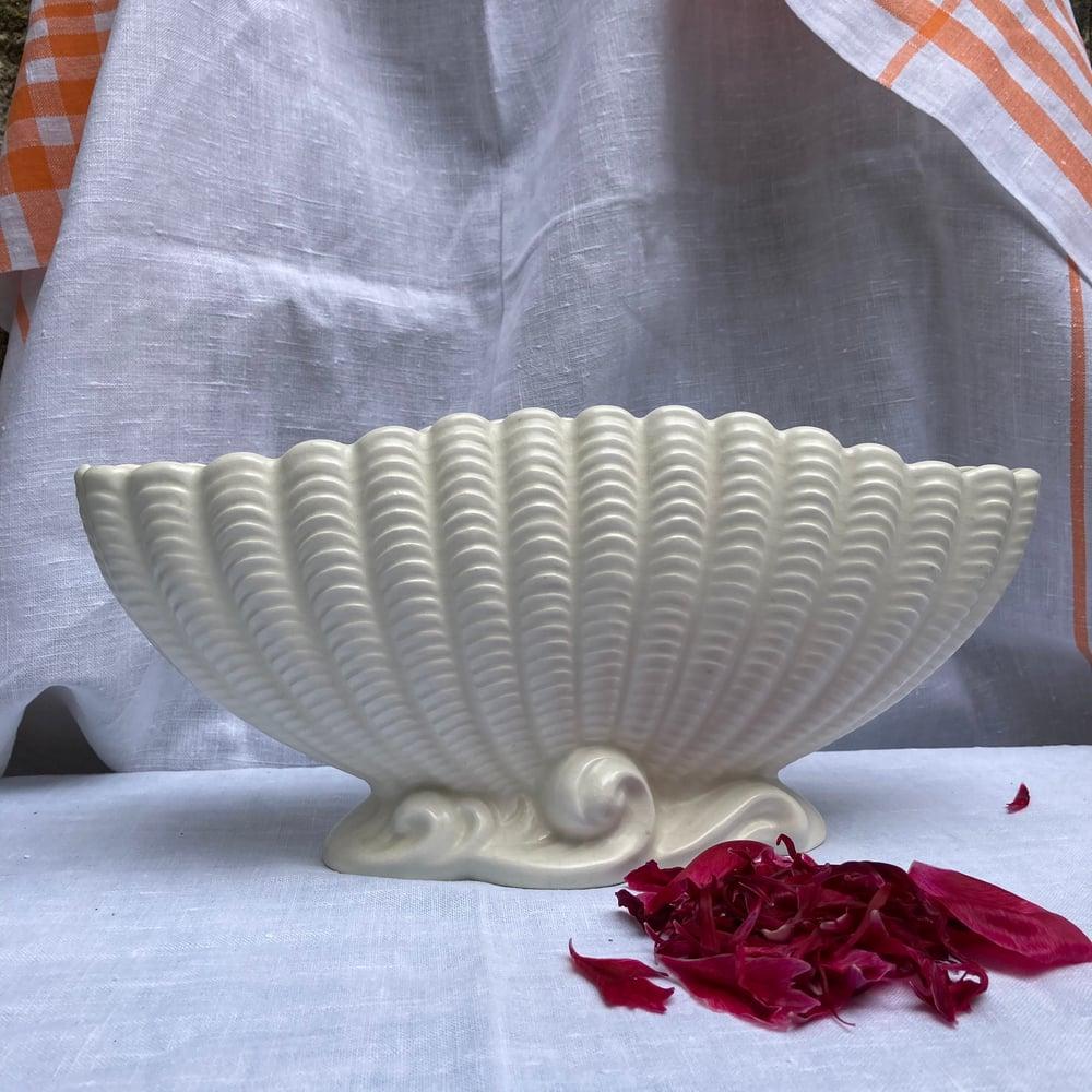 Image of Large shell mantle vase