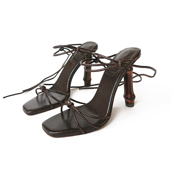 Image of Gucci by Tom Ford 2002 Bamboo Heels Brown