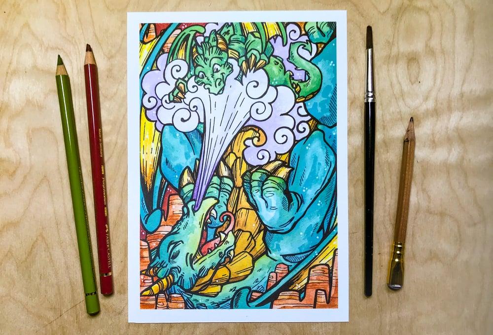 Image of Earth Dragon Parent - Art Print