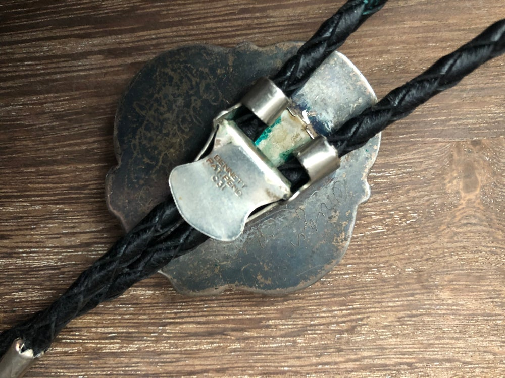 Sterling Turquoise Bolo Tie