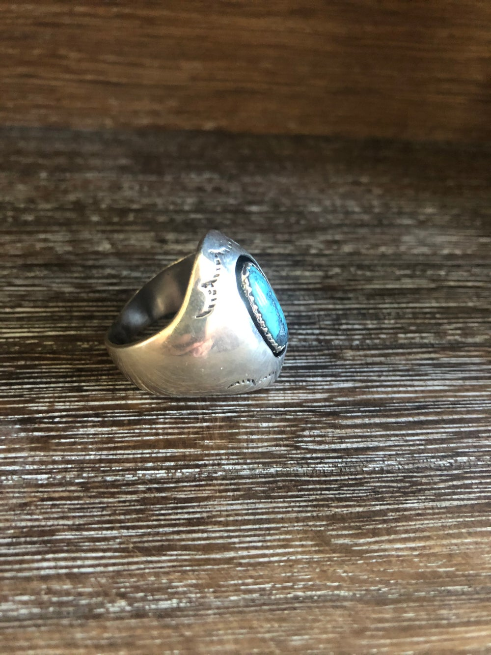 Shadowbox Sterling Turquoise Ring