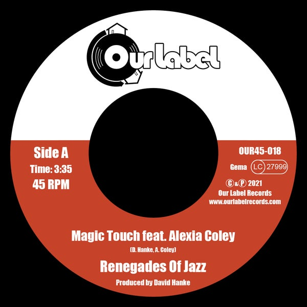 """Image of PREORDER 7"""" Renegades Of Jazz feat. Alexia Coley - Magic Touch (Limited 100 copies)"""