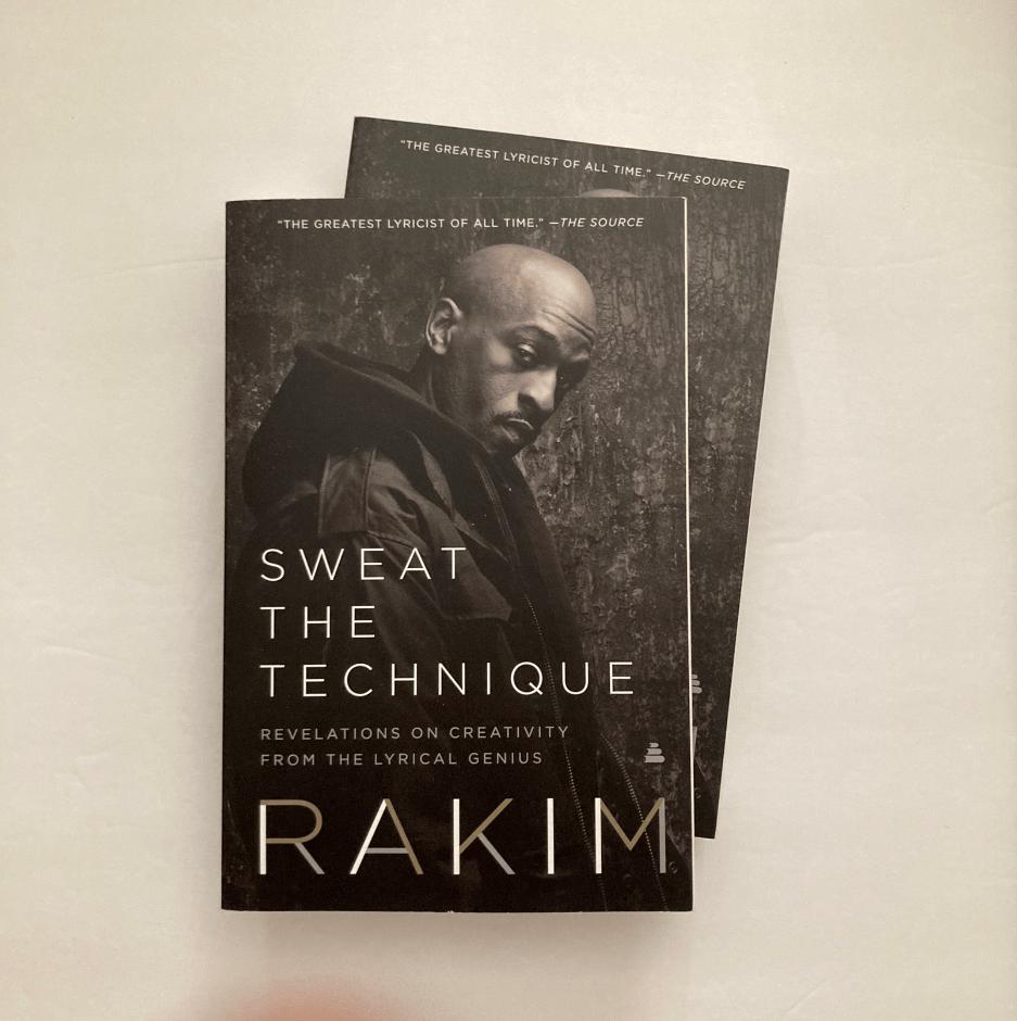 "Image of Rakim ""Sweat The Technique"" Paperbook Book"