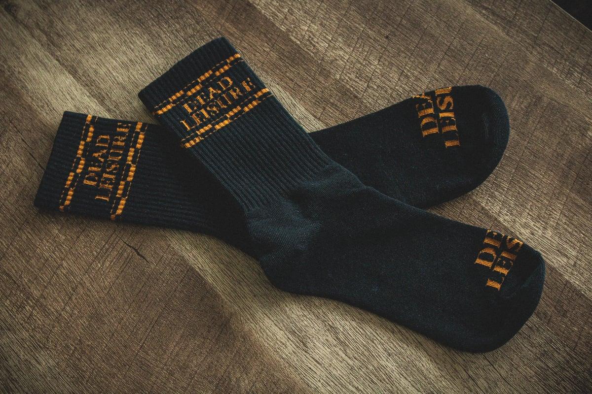 Dead Leisure Logo Socks - Black
