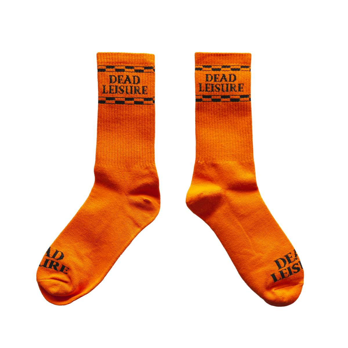 Dead Leisure Logo Socks - Orange