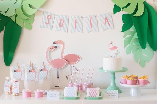 Image of Pack imprimible Flamingo