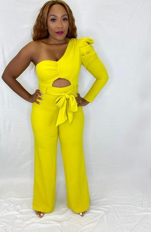 Image of Conservative Jumpsuit-Lime