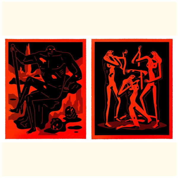 Image of Cleon Peterson Red Prints Set