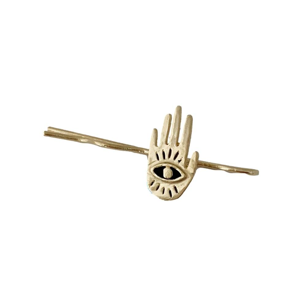 Image of Mini Hand Eye Bobby Pin