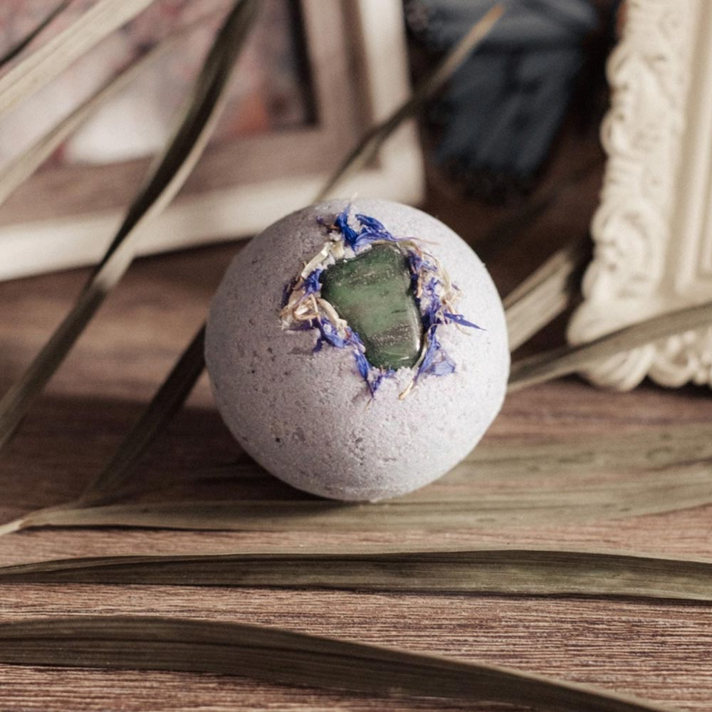 Image of Blue Butterfly Crystal Embedded Bath Bomb