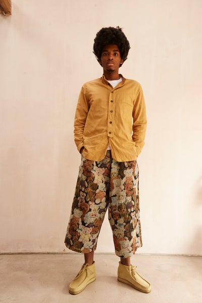 Image of Porter Trouser in Cotton Teddy bear design