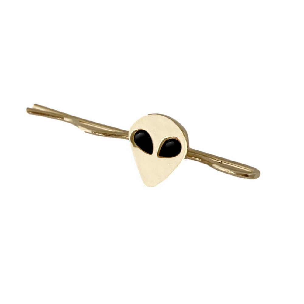 Image of Alien Bobby Pin with Black Onyx