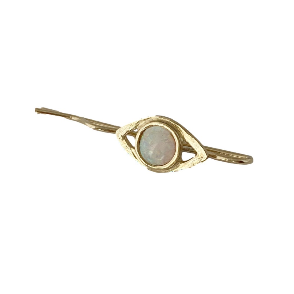 Image of Eye Bobby Pin with Opal