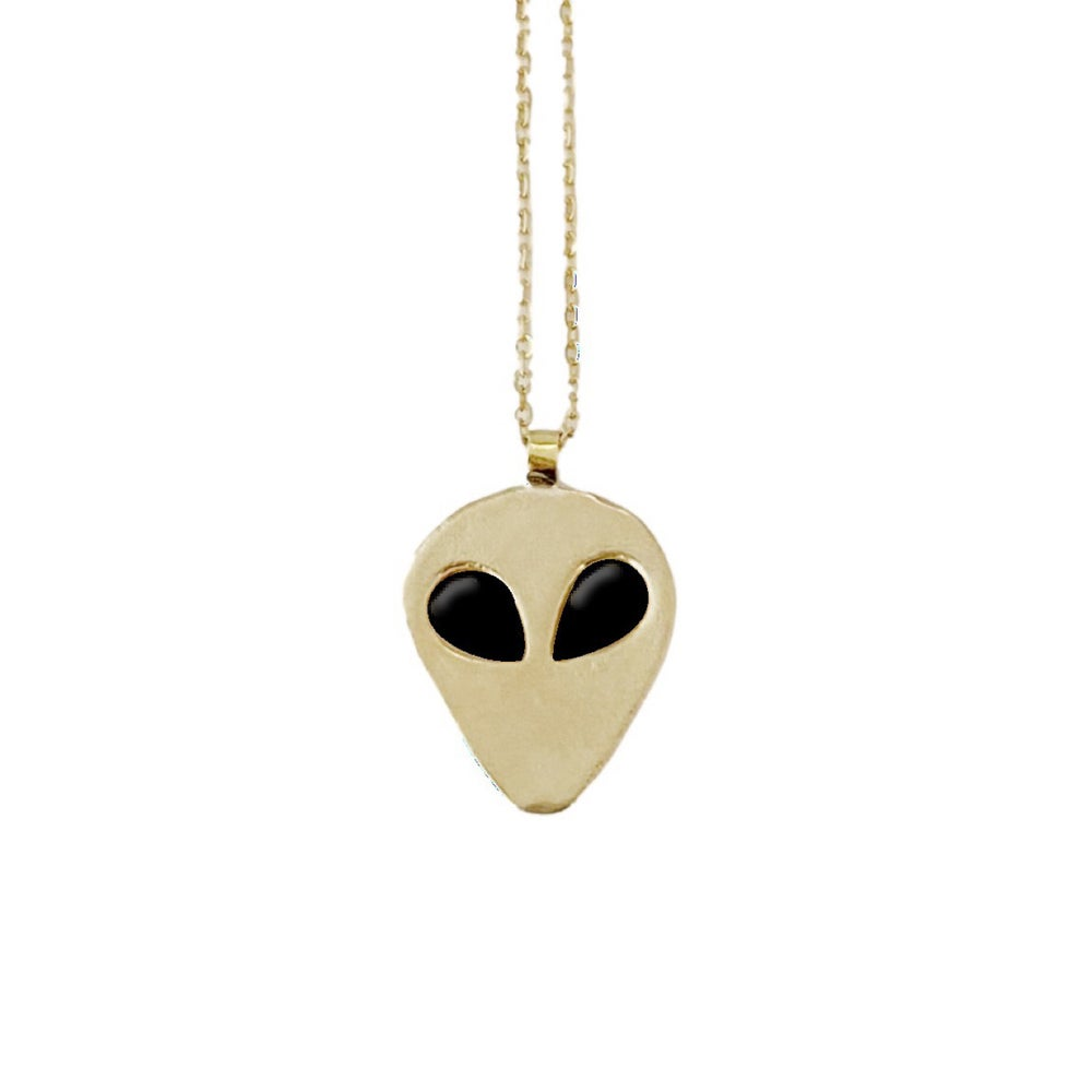 Image of Alien Necklace with Black Onyx