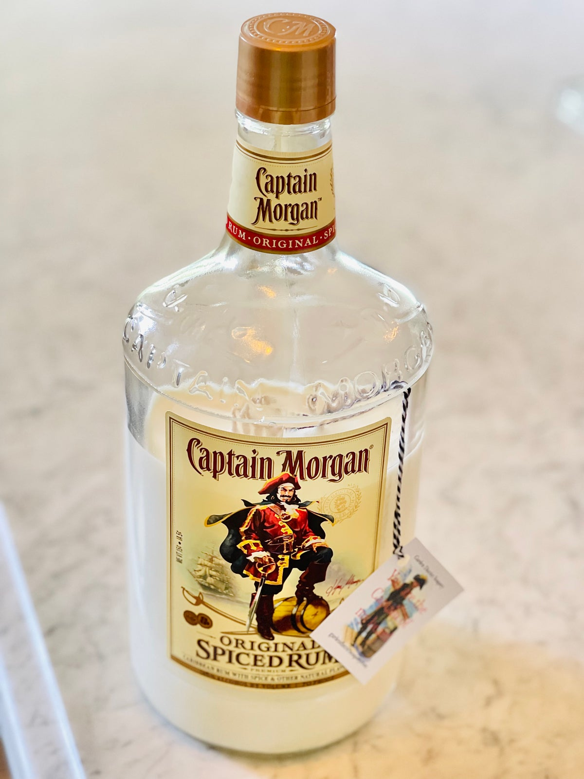 Captain Morgan 1 Liter Pine & Pear Double Cotton Wick with Lid