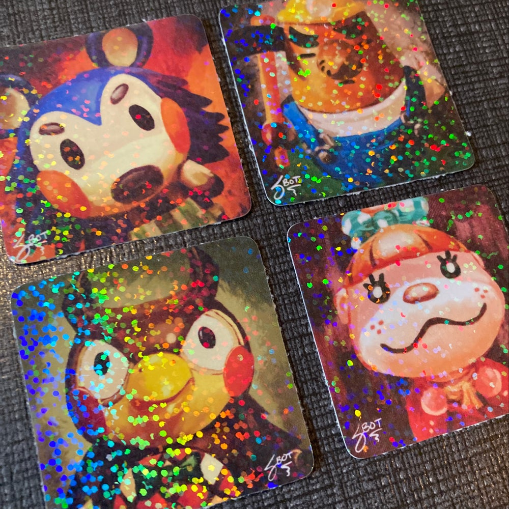 Animal Crossing Holo Sticker 4-Pack