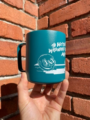 Image of To Better Days Whenever They May Be Camp Mug