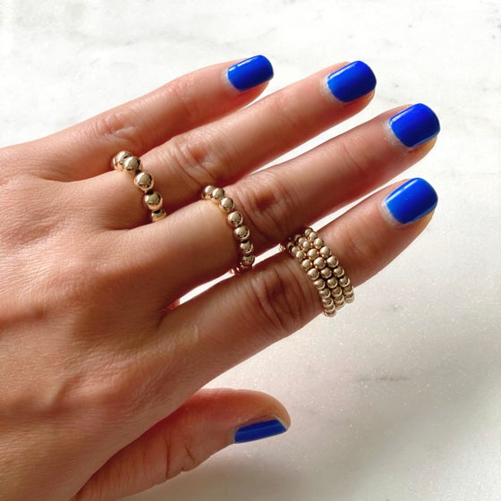 Image of Gold Beaded Stacking Rings