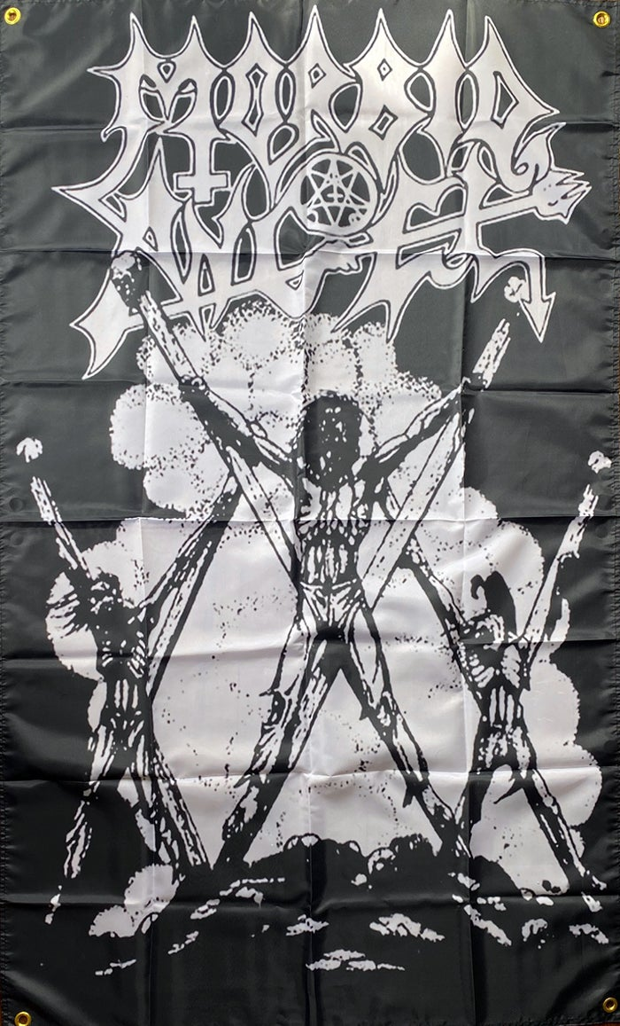 """Image of Morbid Angel """" Thy Kingdom Come """"  Flag / Banner / Tapestry"""