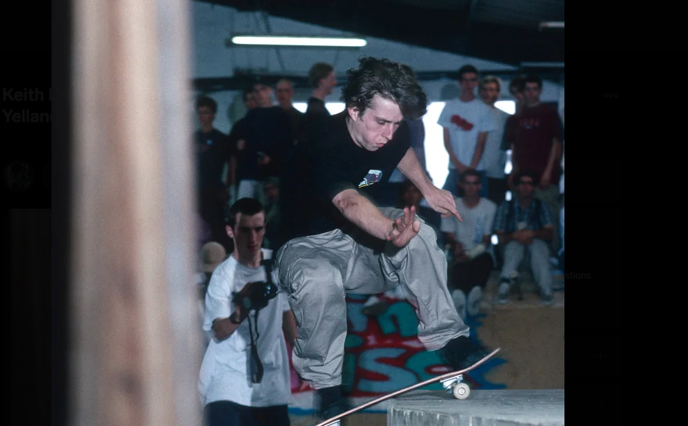 Keith Hufnagel, Radlands pro contest 1995, by Tobin Yelland