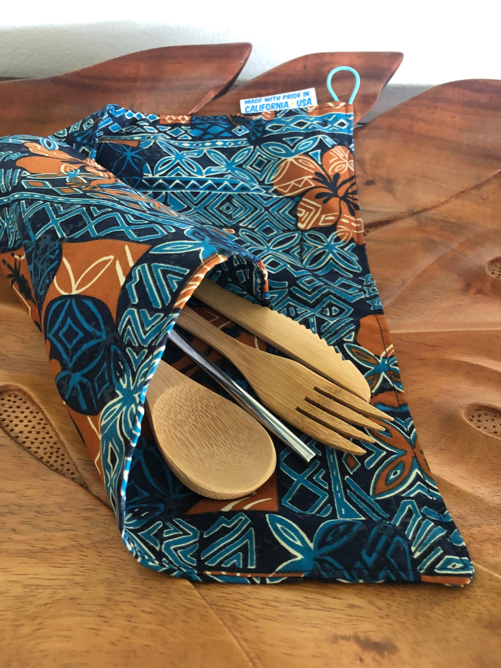 Image of 'Beach Burrito' Reusable Utensil Kit