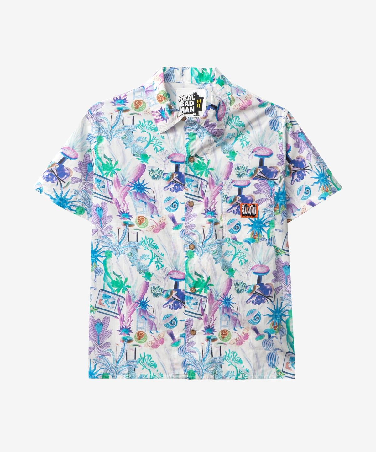 Image of REAL BAD MAN_PSYCHADELICA VACATION BUTTON DOWN