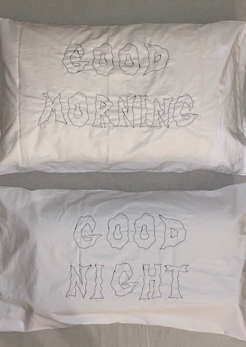 Image of GOOD MORNING / GOOD NIGHT PILLOW CASES