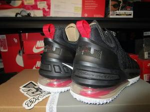 """Image of LeBron XVIII (18) """"Black/University Red"""""""