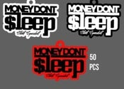 Image of All 3 Money Don't Sleep Keychains