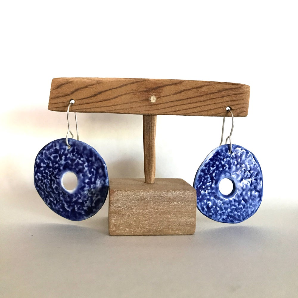 Image of Discus porcelain earrings