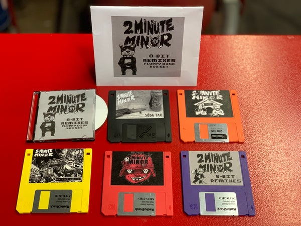 Image of SOLD OUT - DELUXE EDITION 8-Bit Remixes (Floppy Disk Boxset) - Mini-CD + 5 Floppy Disks