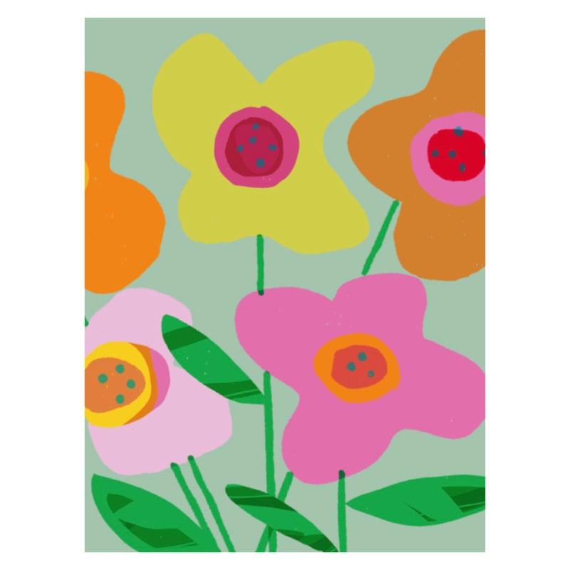 Image of Orange Spot Vase of Flowers