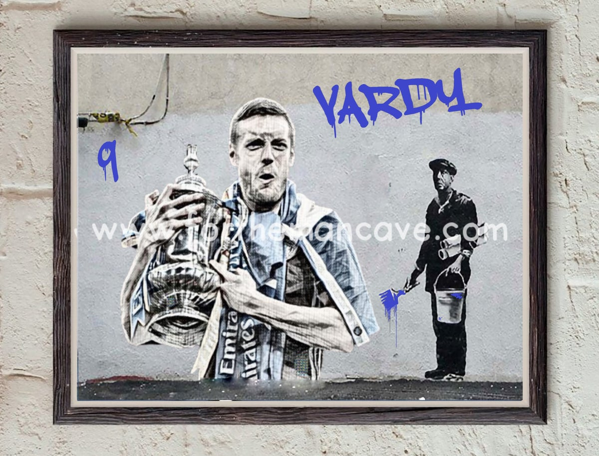 """Image of BANKSY STYLE - """"VARDY - FA CUP FINAL"""" PRINT"""
