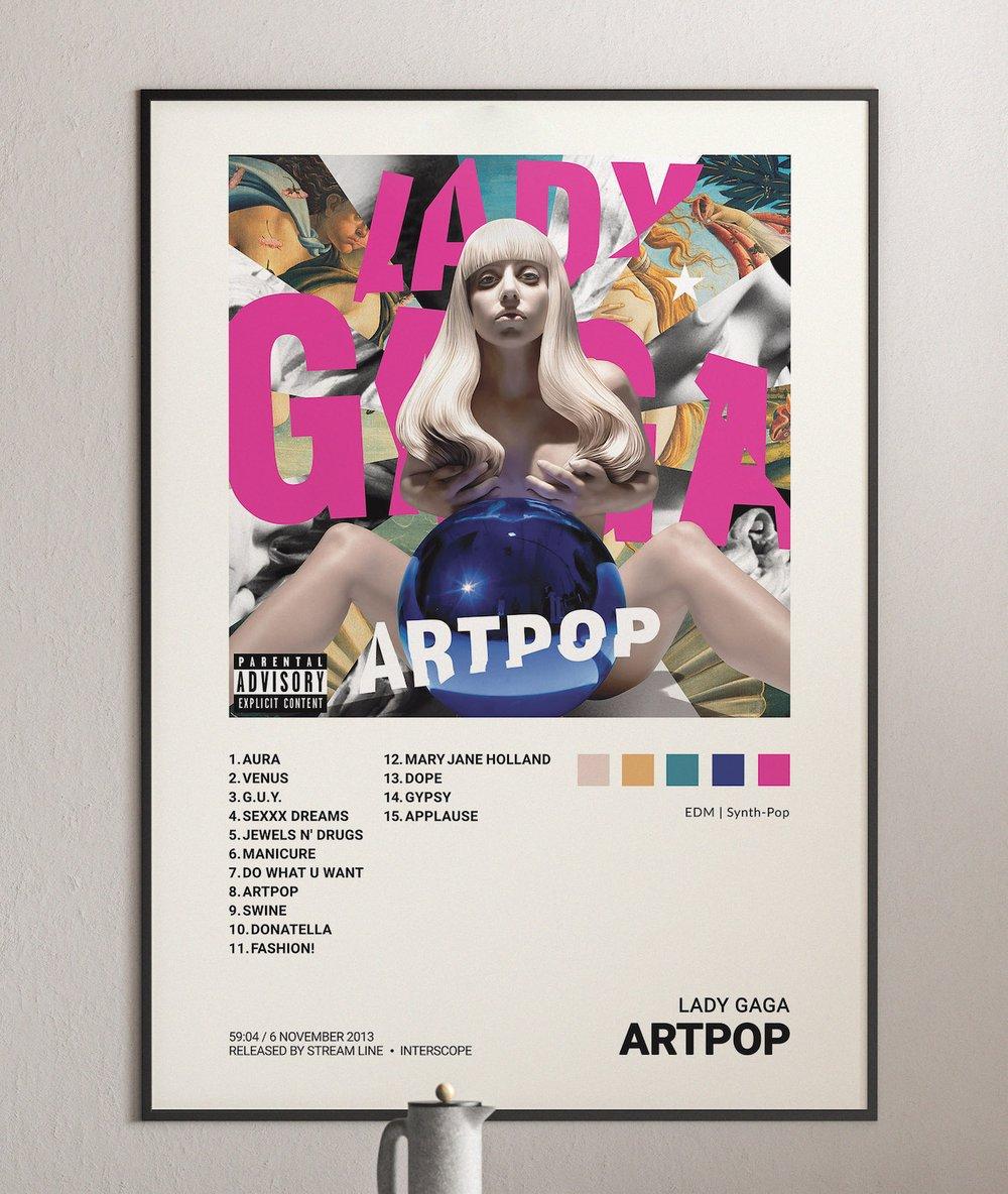 Lady Gaga - Artpop Album Cover Poster