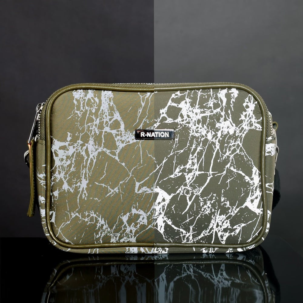 Image of R-NATION  REFLECTIVE MARBLE BAG