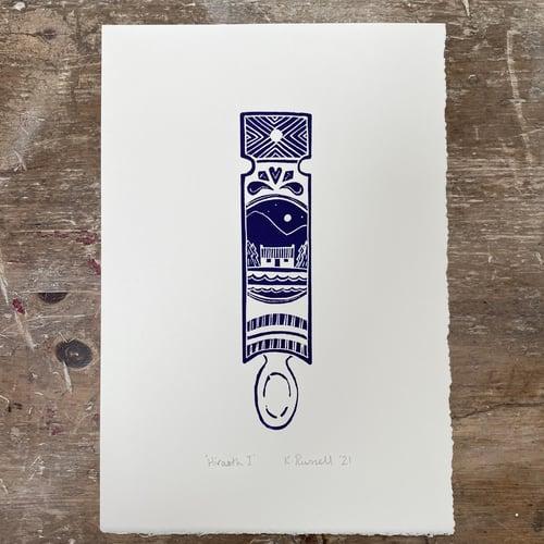 Image of *Discounted Second* 'Hiraeth I' Linoprint