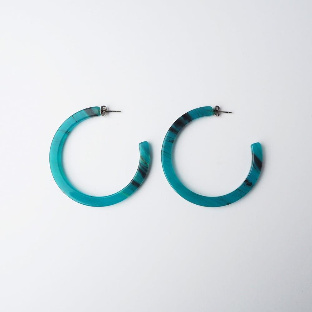Image of *SAMPLE SALE* Jade Hoop Earrings