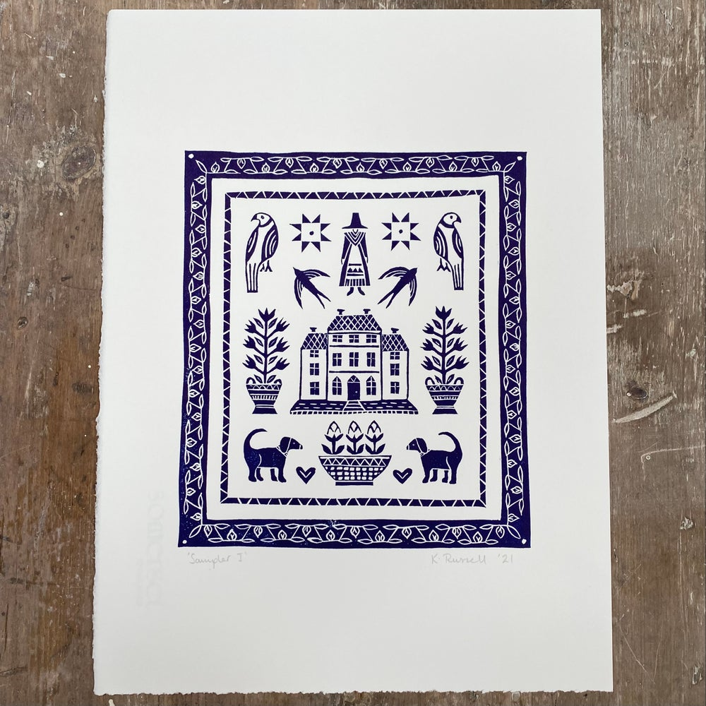 Image of *Discounted Second* 'Sampler I' Linoprint