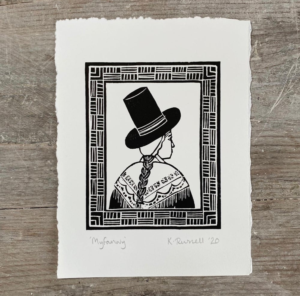 Image of *Discounted Second* 'Myfanwy' Linoprint