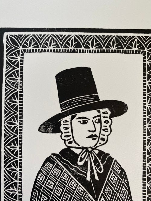 Image of *Discounted Second* 'Gwenllian' Linoprint