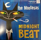 Image of LP. The Montesas (Featuring Marcel Bontempi) : Midnight Beat.   Ltd Edition Blue Vinyl.