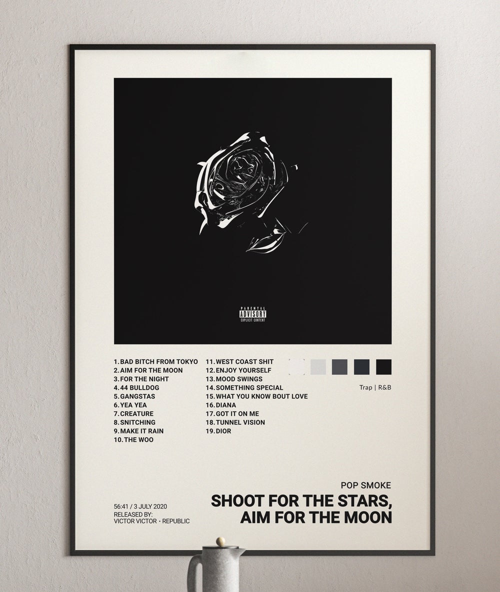 Pop Smoke - Shoot for the Stars, Aim for the Moon Album Cover Poster