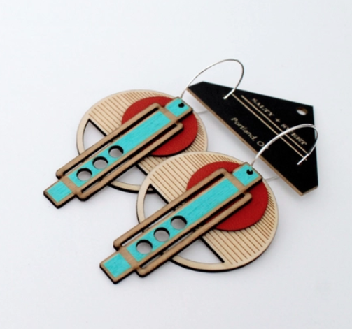 Image of Wright Earrings in Red