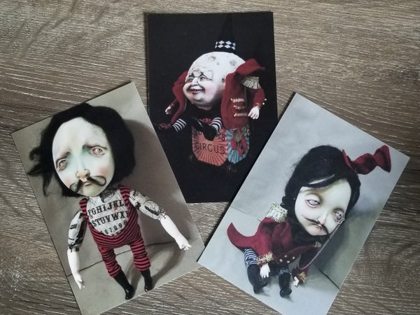 Image of Circus sets of 3 Postcards 4 × 6