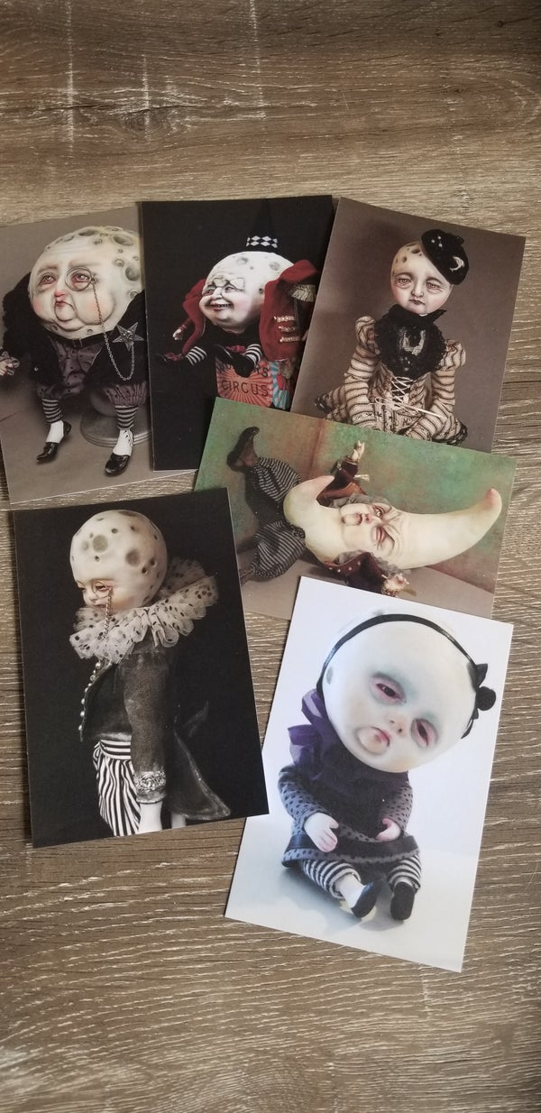 Image of Set's of 6 postcards Moon's collection