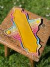 8 Inch Cloth Sanitary Pad Rainbows/Yellow Premium