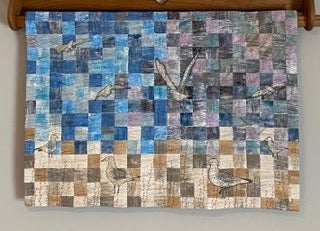 Image of Gulls by the Sea Art Quilt