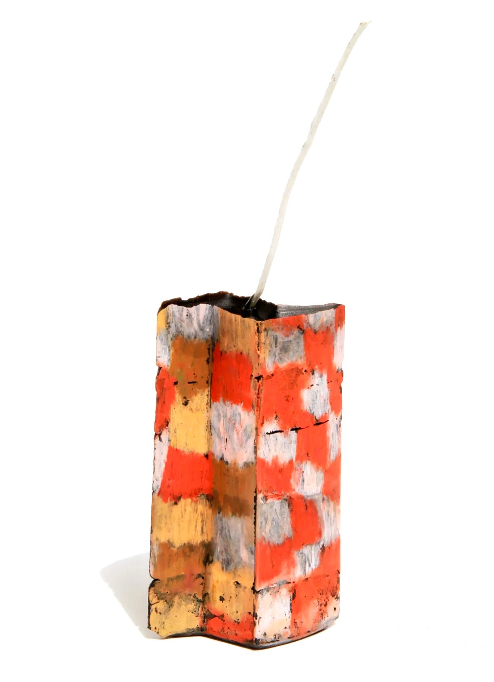 Image of Butterfly Tower in pink, red, brown and orange